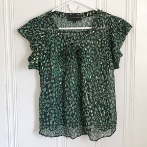 Anthropologie Corey Lynn Calter Green Silk Top 2